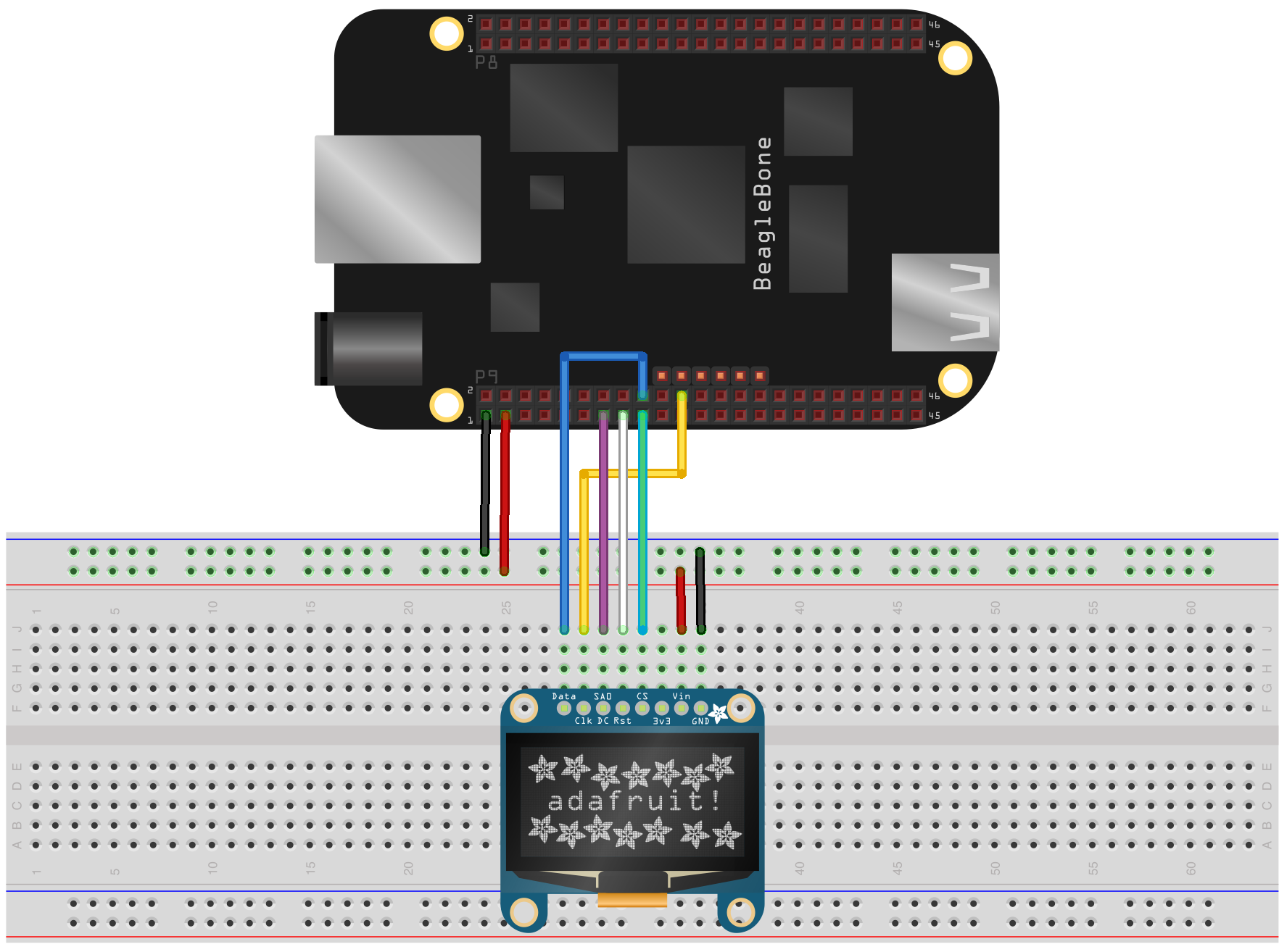 Controlling an Adafruit SSD1306 SPI OLED With a Beaglebone Black on gps schematic, lcd schematic, solar schematic, quadcopter schematic, geiger counter schematic, msp430 schematic, usb schematic, arduino schematic, electronics schematic, breadboard schematic, wireless schematic, bluetooth schematic, flux capacitor schematic, apple schematic, xbee schematic,