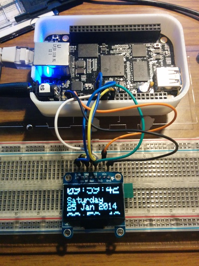Controlling an Adafruit SSD1306 SPI OLED With a Beaglebone Black